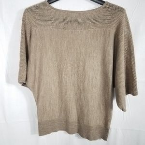 New York And Company Tan Cropped Sweater Sz Sm